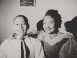 Emmett Till with His Mother  Mamie Bradley  Ca 1950