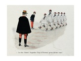 Military Illustration in Mes Campagnes  1896  Recruits Training to Parade