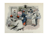 Military Illustration in Mes Campagnes  1896  Recruits at the Canteen