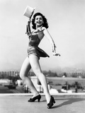 Ann Miller  Rehearsing Atop the Columbia Sound Stages for Reveille with Beverly  1943