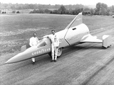 Drag Racer Walter Arfons  with the 'Wingfoot Express' in 1964