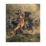 Last Charge of the General Lassalle  Battle of Wagram  July 6  1809