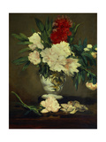 Vase of Peonies on a Small Pedestal 1864 Oil on Canvas