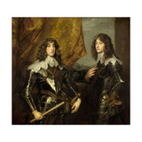 Prince Charles Louis  Elector Palatine and His Brother  Prince Rupert  1637