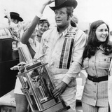 Nascar Racecar Driver Buddy Baker after Winning the Texas 500  Nov
