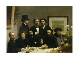 French Writers by the Table  1871