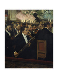 The Orchestra at the Opera  1868