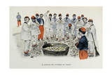 Military Illustration in Mes Campagnes  1896  Recruits at the Potatoes Circle