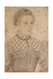 Portrait of Young Mary Stuart   Queen of France and Scotland Ca 1565