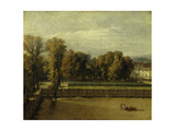 View of the Luxembourg Gardens in Paris