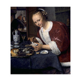 Girl Eating Oysters Ca 1658-1660