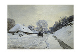 The Cart Snow-Covered Road at Honfleur  Ca 1867