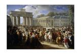 Napoleon Enters Berlin  at Brandenburg Gate  Oct 27  1806