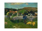 Pig Herder in Brittany  1888