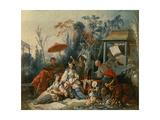 The Chinese Garden  Circa 1742