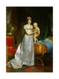 Portrait of Empress Marie Louise and the King of Rome 1813
