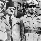 Muhammad Naguib with Egyptian Premier Ali Maher  Who Was Appointed by King Farouk  in 1952