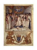 Louis XI Presides over Chapter of Ordre of Saint Michael  Order's Statutes 1470