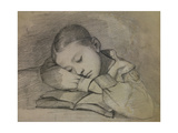 Juliette Courbet Sleeping (Painter's Sister) 1841