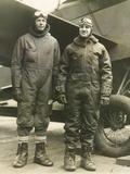 Col Charles A Lindbergh (Left) and Harry F Guggenheim in Flight-Suits Dec 8  1928