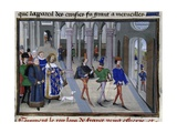 King St Louis in St Denis before Leaving for 7th Crusade  1248