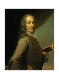 Voltaire  1728  after Maurice Quentin De La Tour  French