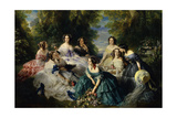 Empress Eugenie Surrounded by Ladies-In-Waiting  1855