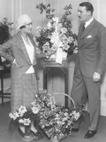 Newly Married Gloria Swanson and Marquis De La Falaise  at the Ritz Carlton Hotel in New York City