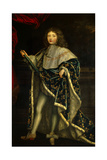 French King Louis XIV in Royal Robes at Age 10 in 1657