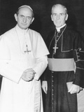 Fulton J Sheen Following a Private Audience Pope Paul VI at the Vatican  March 17  1971