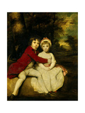 John Parker  1st Earl of Morley and His Sister Theresa Parker  as Children