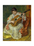Woman Playing Guitar  1897