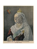 Elderly British Queen Victoria French Engraving Published on Her Death on Feb 3  1901