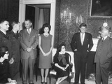 President John Kennedy Meets with US Air Force Rb-47 Pilots Released from the Soviet Union