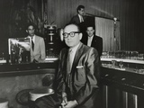 Gangster Santo Trafficante Sitting on a Stool in His Sans Souci Night Club in Havana  Cuba