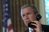 President George W Bush on Telephone to Ny Gov George Pataki and Nyc Mayor  Rudolph Giuliani
