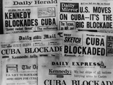 Headline of Britain's Daily Newspapers Announcing President Kennedy's Blockade of Cuba
