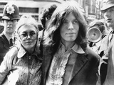 Mick Jagger and His Girl Friend  Singer Marianne Faithful Arrive at Magistrate's Court