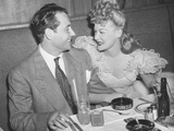 Movie Star Betty Hutton with Her Fiance  Newscaster  in Charles Martin at the Stock Club