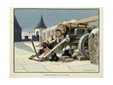 Turenne as a Child  Sleeping on a Cannon