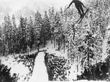 Nordal Kaldahl of Canada Won the Northwest Ski Jumping Championship  at Big Hill  Cascade Mountains