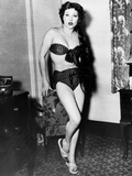 Jean Parker  Showing the Bikini That Got Her Ordered Off Bondi Beach in Sydney  1951