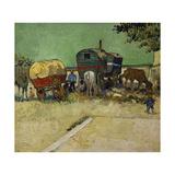 The Caravans  Gypsy Encampment Near Arles  1888