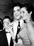 Lou Costello  Elvis Presley  Jane Russell  at a Benefit for St Jude's Hospital  June 28  1957