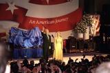 First Lady Hillary Clinton Wearing an Oscar De La Renta Evening Gown at a 1997 Inaugural Ball