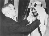 President Harry Truman Presents the Legion of Merit to Crown Prince Amir Saud of Saudi Arabia
