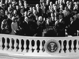 President John Kennedy Takes the Oath of Office Administered by Chief Justice Earl Warren