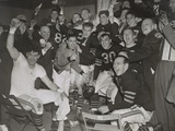 Chicago Bears Cheering after Beating the Green Bay Packers in the Western Division Playoffs