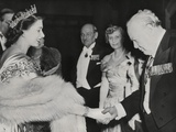 Princess Elizabeth Welcomes Winston Churchill and Prime Minister Clement Atlee at Guildhall