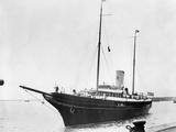JP Morgan Jr's Yacht 'Corsair ' as it Arrived in Southampton  England  July 27  1934